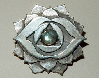 Third Eye (6th) Chakra Pendant in Sterling Silver or Bronze