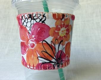 Coffee Cozy - handmade, reversible, gifts under 15 dollars