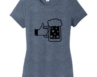 I Like Beer - Funny Women's Fitted T-Shirt
