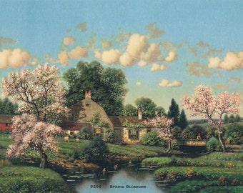 Spring Blossoms Calendar Art Print