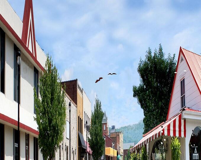 Kentucky, Morehead, Main Street Fine Art Print on Fine Art Paper or Canvas