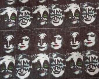 Golden girls, kiss , rock band  , parody , betty white , bea arthur ,estelle getty ,  mashup fabric polycotton by the meter