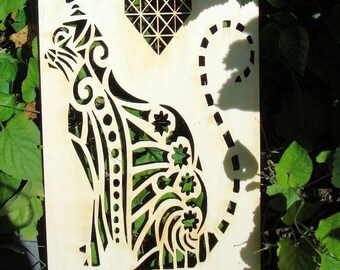 Cat 02068 wood embellishment for your creations wooden 8 mm