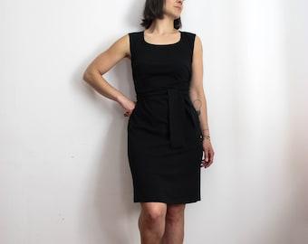 Cotton dress Falena black