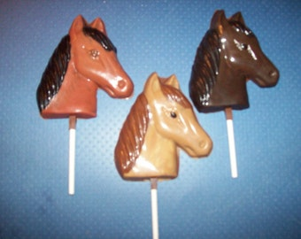 Horse Head Lollipops