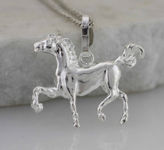 Silver horse sterling silver horse necklace horse pendant aloadofball Gallery
