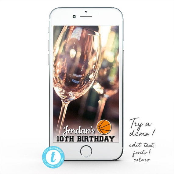 Basketball Snapchat GeoFilter, Basketball Geofilter Birthday, Basketball Party Geofilter, Basketball Snapchat Filter