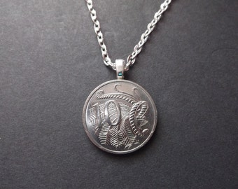 "Australia ""10"" Coin Necklace -Australia 10 Pendant  - 2001 Australia Coin Necklace"
