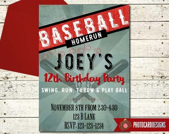 Baseball Birthday Invitation | Baseball Party | Baseball invitation | Sports Birthday | Baseball, Tournament, Digital, Birthday, Sport Party