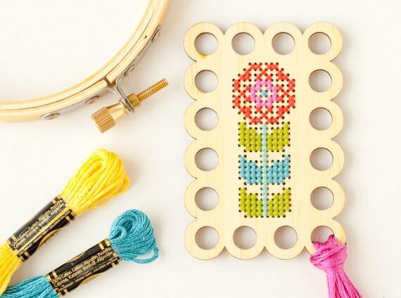 Clearance Flower Embroidery Floss Organizer Diy Kit Thread Minder