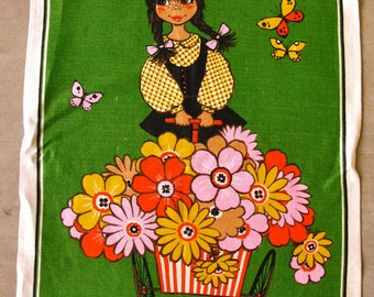 Vintage Tea Towel With Mexican Theme by Dunmoy