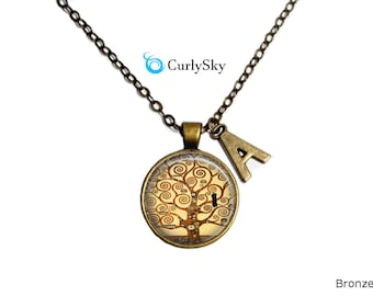 Gustav Klimt Necklace Tree of Life Necklace Gustav Klimt Gift Gustav Klimt Painting Necklace Gustav Klimt Necklace Tree of life Necklace