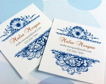 Personalized Business Cards, Custom Business Cards - Set of 48