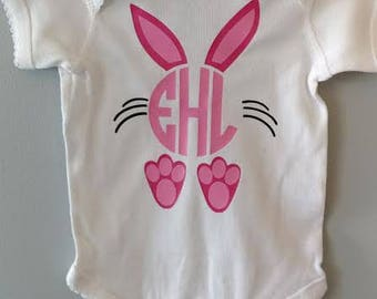 Easter Shirt/ Easter Onesie/ Monogram Easter Bunny Shirt/ Personalized Easter Shirt/