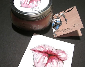 Pink Kisses Beeswax Candle Gift Set, Limited Edition, Eco-friendly, Art, Aromatherapy
