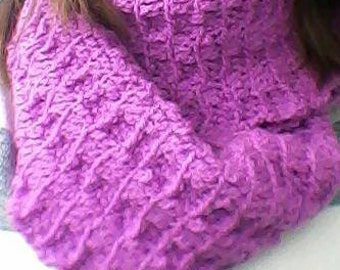Purple cowl scarf , cowl scarf  , chunky crochet scarf  , Infinity scarf , purple  crochet snood , Mothers day gift , Valentines day gift
