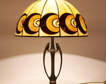Tiffany Amber Lamp 16'', Tiffany Desk Lamp, Tiffany Lamp, Desk Lamp, Lamp, Stained Glass Lamp, Baltic Amber