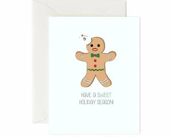 "Gingerbread Man ""Have A Sweet Holiday Season"" Greeting Card"
