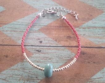 boho bracelet, bohemian bracelet,  seedbead jewelry ,turquoise bead,beaded bracelet,hippie bracelet turquoise bracelet, teen bracelet, beads