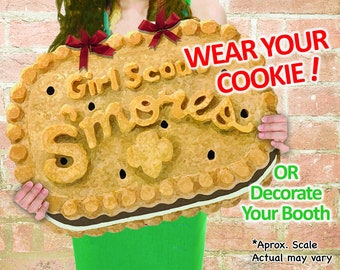 """WEAR Your COOKIE! Girl Scout """"Smores"""" Cookies Booth Poster Decoration PRINTABLE Sign 15x20"""" Large Girl Scouts Decor Printable Plus Bonus!!!"""