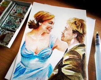 Custom Watercolor Portrait, Portrait, MaryAliceArt, MaryAlicesGallery