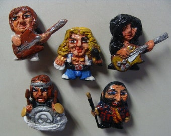Gods Of Rock And Roll Refrigerator Magnet set  (Full body/Cutie Style)