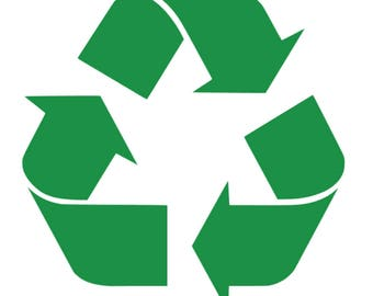 Recycle symbol - vinyl decal sticker - Recycling