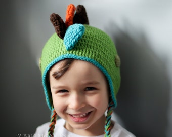 Dinosaur Hat - Baby Dinosaur hat - crochet dinosaur hat - Baby Boy Hat - Newborn boy hat - Toddler boy hat - winter hat