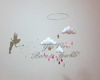 Floating Cloud mobile - pink and gold but also custom