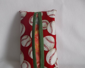 Baseball Pocket Tissue Holder (Handmade)