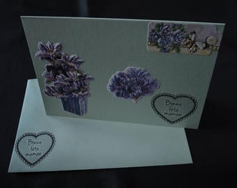 Mothers Day greeting card with matching envelope