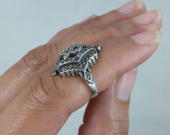 Vintage Hematite Stone Ring