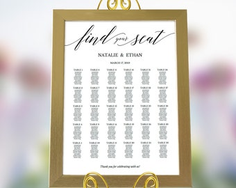 Seating Chart Template,Seating Chart Printable,Wedding Seating Chart Poster,Seating Chart Template Large,Seating Chart PDF,Instant Download