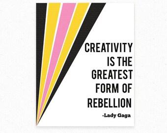 Lady Gaga Poster, Gift For Teen, Lady Gaga Art, Art Teacher Gift, Motivational Print, Gay Gifts, Roommate Gift, Pop Culture Art, Music Lover
