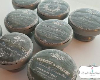 Kitchen Knobs Drawer Pulls Paris France Shabby Chic Cottage French Farmhouse Advertisments - The GRAY Chalkboard Set