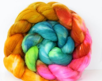 Tourmaline 4 oz Merino softest 19.5 micron Roving Top for spinning
