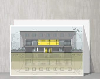 SALE Architecture Blank Card - Willow Road