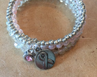 Hope for Breast Cancer Wrap Bracelet by So Chic Wrap Bracelets
