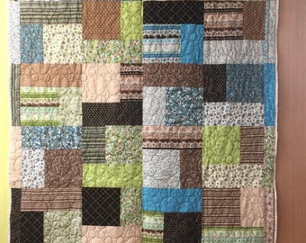 Teal and chocolate quilt