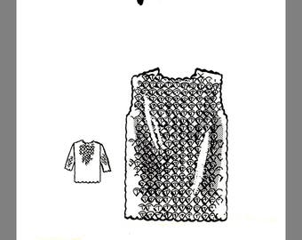 Sweater pattern Design Vintage Mail Order Women's Crocheted Shell Stitch Sweater crocheting pattern # 9096  Reprint / Copy