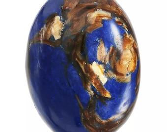 Sea Sediment Jasper (5x) Royal Blue Cabochons