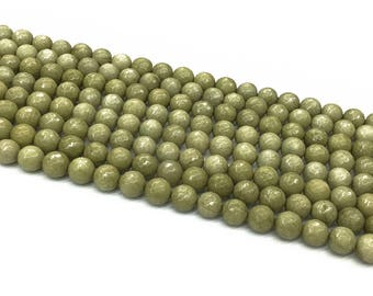 1Full Strand Jade Faceted Round Beads, 6mm 8mm 10mm Jade Gemstone For Jewelry Making