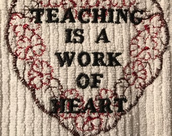 Embroidered Towel for Teacher