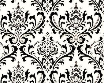 Black on White Traditions Damask Design Custom Shower Curtain