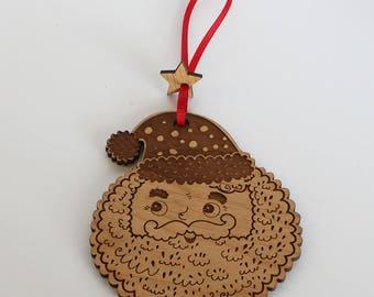 Santa ornament-Christmas Tree Ornament- Christmas Gift