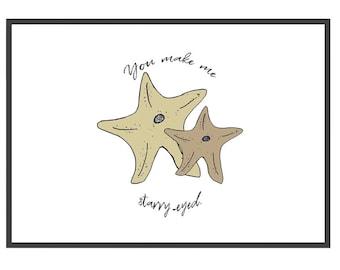 Wall Print Starfish 8x10