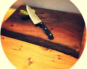 English walnut live edge chopping board