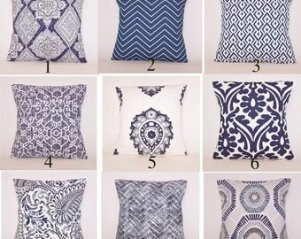 Indigo Blue Pillow Cover, Toss Pillow, Linen Pillow Cover, Euro Pillow, Sham, Lumbar,Couch Pillow,Throw Pillow,Bedding,Various Sizes