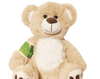 Camo Cast Broken Arm Higgy Bear