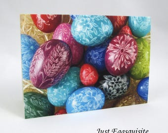Set of 3 Blank Note Cards, Pysanky Note Card, Egg Note Cards, Ukrainian Egg Cards, Easter Cards, Ukrainian Stationery, Easter Egg Note Cards